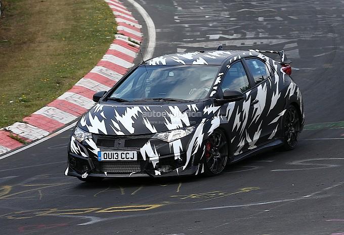 Hondayes Autoevolution Spyshots 2015 Honda Civic Type R