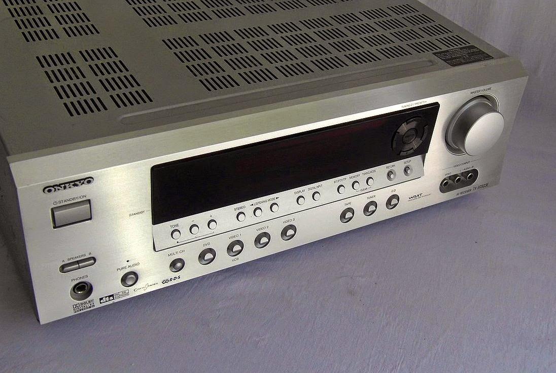 Onkyo tx sr503e av receiver audiobaza for Onkyo or yamaha receiver