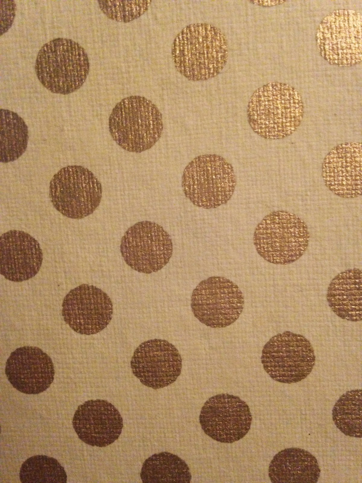 White and Gold Polka Dots