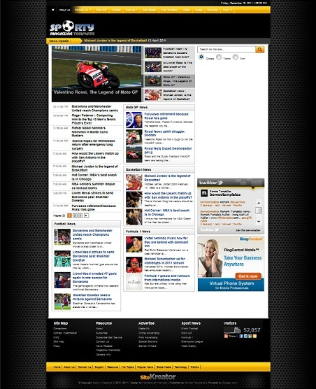 Free Template Premium Sporty Megazine2