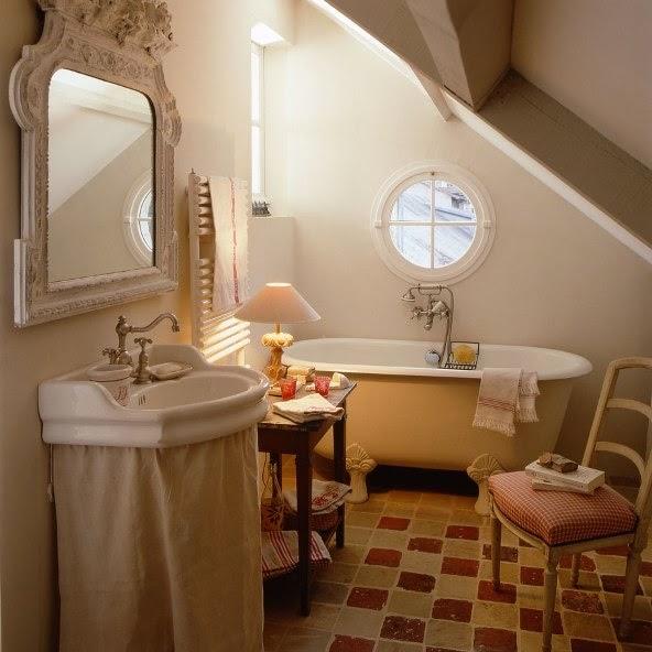 baño estilo provenzal francés