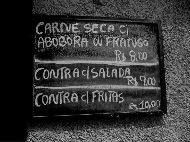 CA -carne seca com abobora ou frango - rio de janeiro-RJ / BRASIL