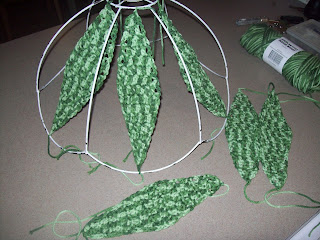 crochet an old light shade 5