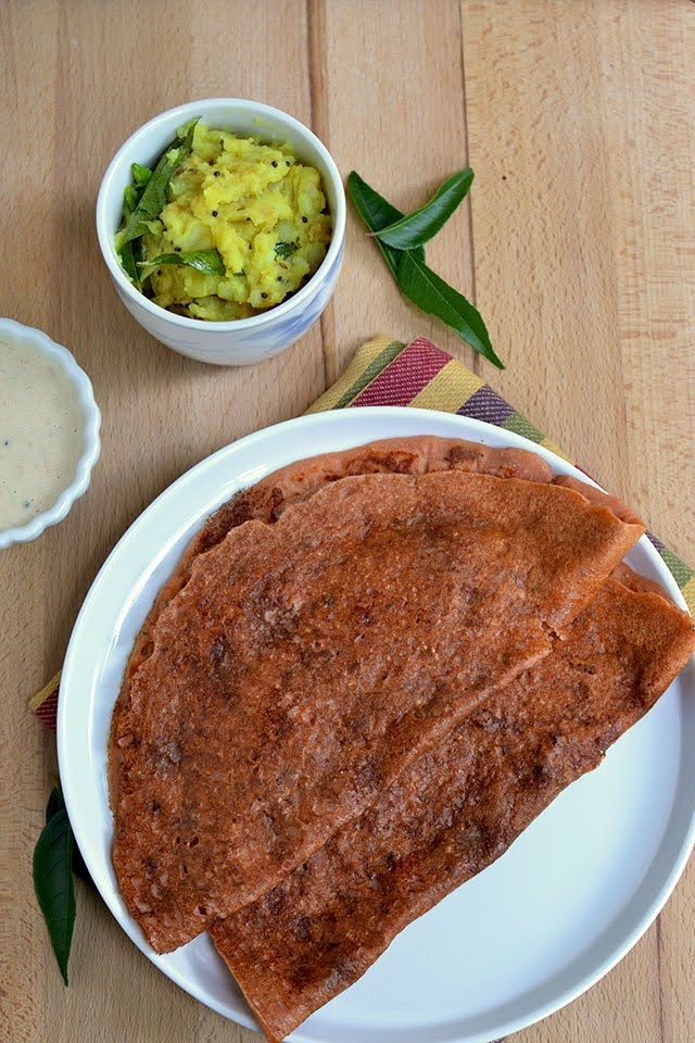 Dosa with Tomato & Oats