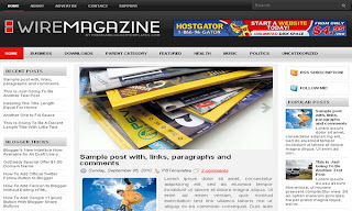 Wire Magazine Blogger Template