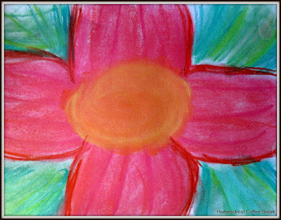 An O'Keeffe Flower, KAT, 2015 on the Virtual Fridge, an art link-up hosted by Homeschool Coffee Break @ kympossibleblog.blogspot.com #VirtualFridge #art