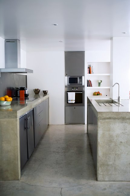 Dise o de cocinas con cemento pulido - Pared cemento pulido ...