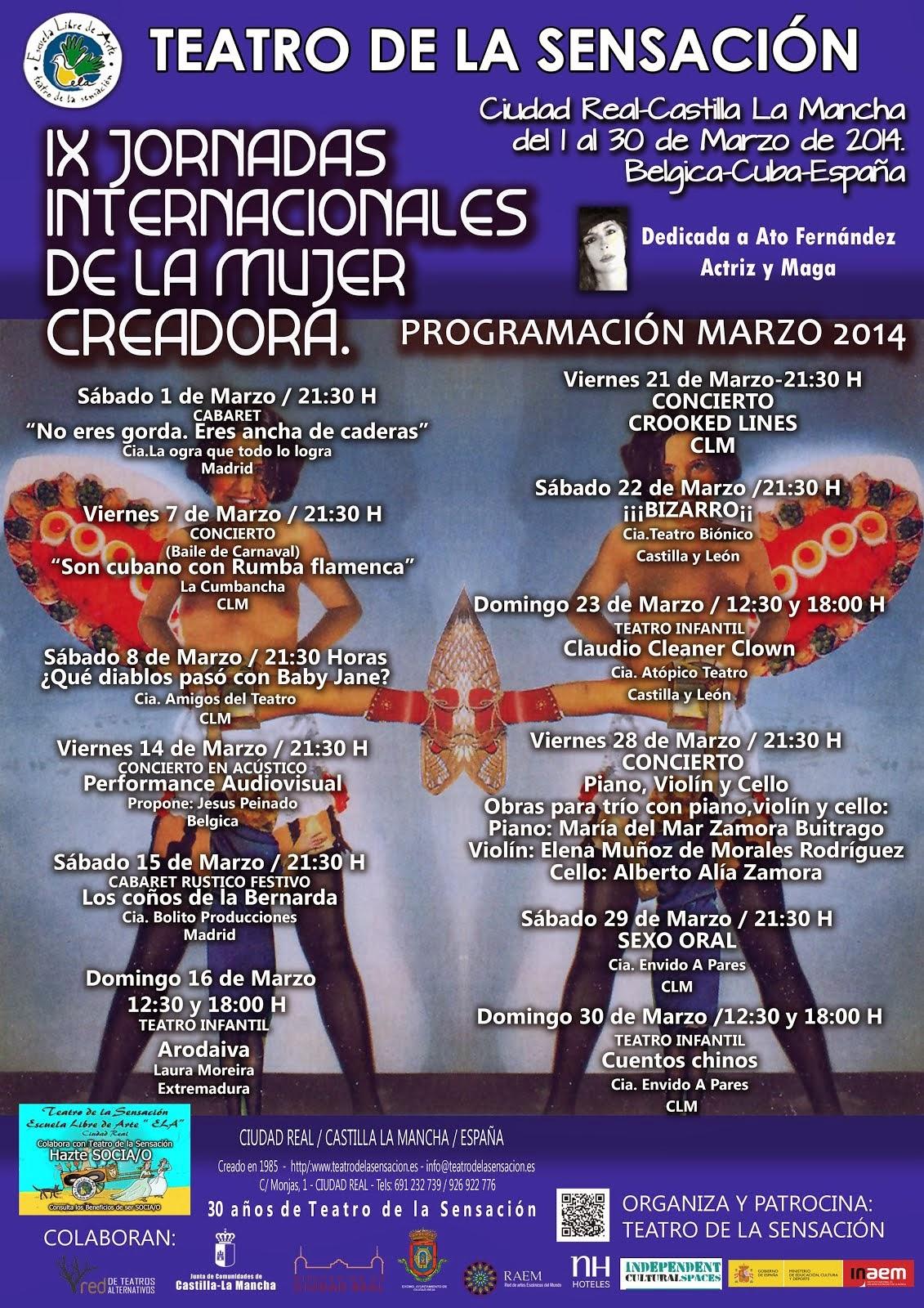 IXJORNADAS INTERNACIONALES DE LA MUJER CREADORA.