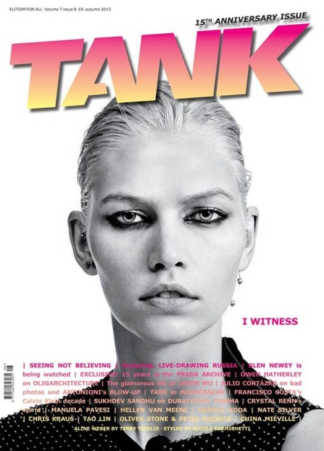 Aline Weber by Terry Tsiolis for Tank Magazine 15th Anniversary Issue