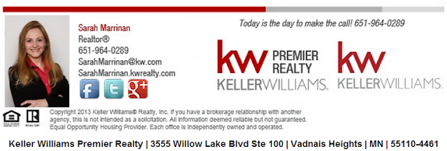 Sarah Marrinan, Realtor, Keller Williams, www.CallSarahFirst.com