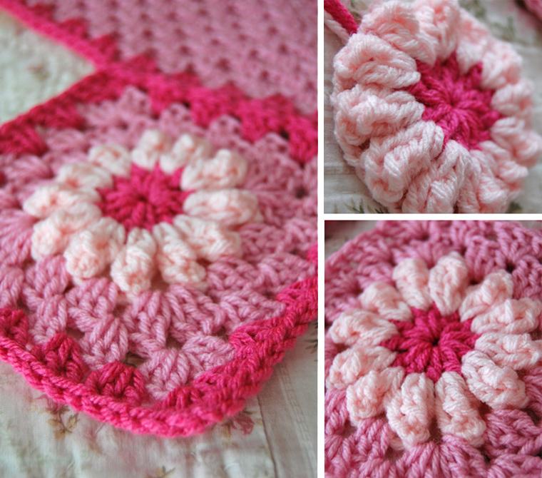 Crochet Daisy Flower Blanket Pattern : tillie tulip - a handmade mishmosh: New pink flower blanket