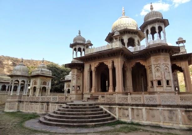gaitor jaipur cenotaphe cenotaph maharadja maharaja inde nord escapade excursion