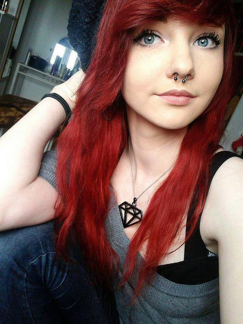 Cute Hairstyles For Medium Red Hair : Omg haircut medium emo hairstyles for women