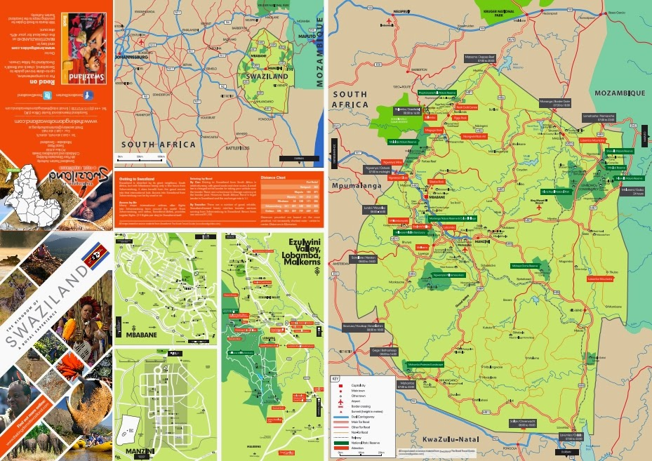 TravelCommentscom Official Blog Download Free map of Swaziland