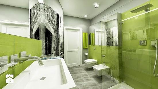 Cuartos De Baño Verde Agua:10 Baños decorados con verde – Colores en Casa