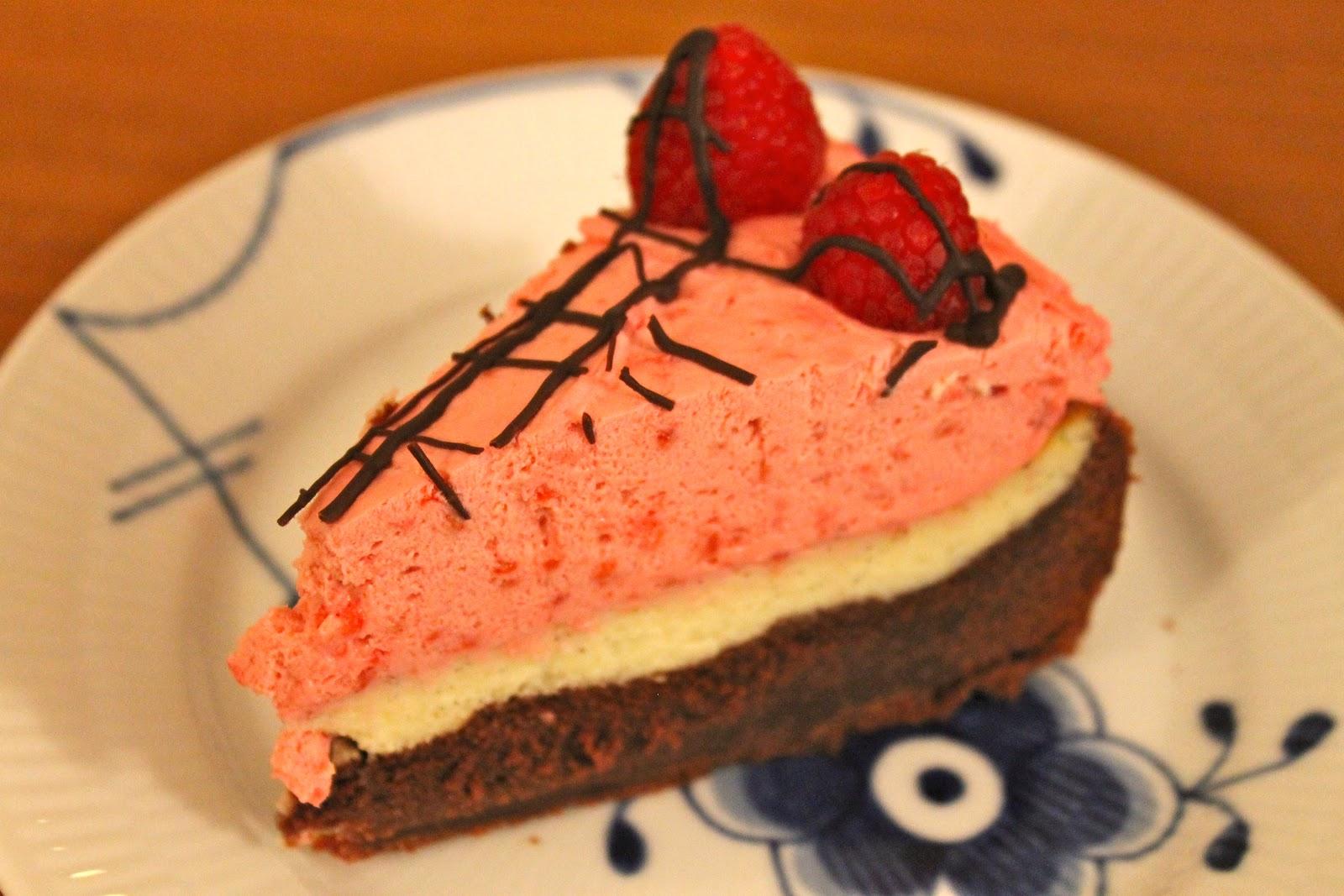 hindbær brownie cheesecake