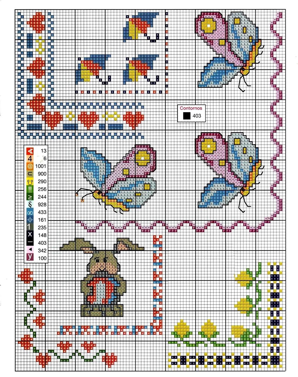 Grande raccolta di schemi e grafici per punto croce free for Schemi lenzuolini punto croce