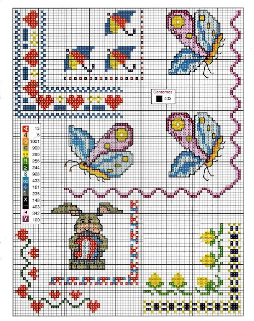 Ricami e schemi a punto croce gratuiti schema tenere for Lenzuolini punto croce schemi