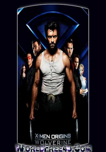 Poster Of X Men Origins Wolverine (2009) In Hindi English Dual Audio 300MB Compressed Small Size Pc Movie Free Download Only At worldfree4u.com