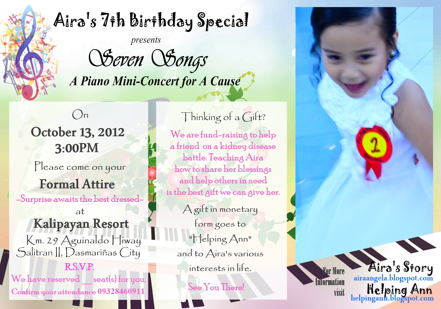 emcee script on 7th birthday party program | just b.CAUSE