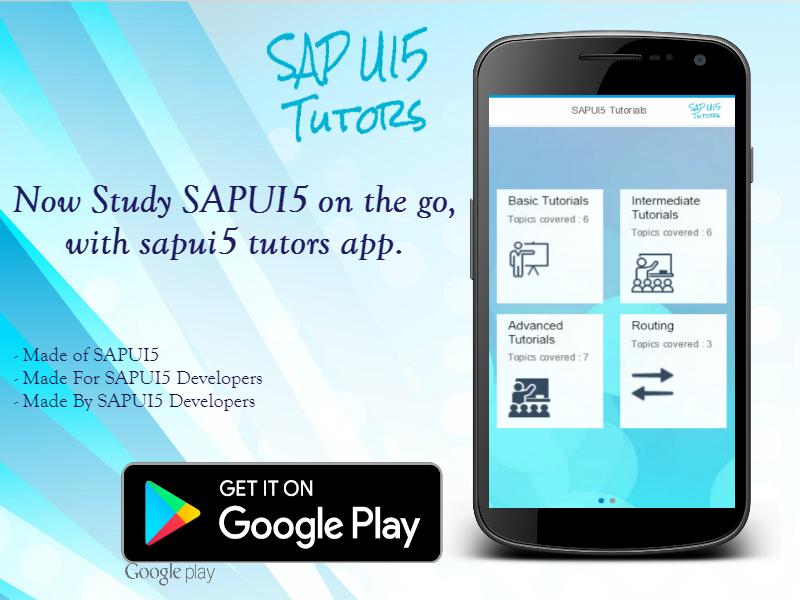 SAPUI5 Tutorial App