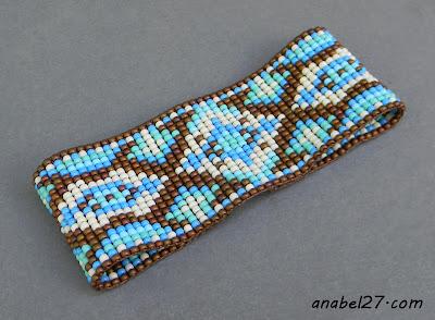 бисер бисероплетение ткачество браслет блог