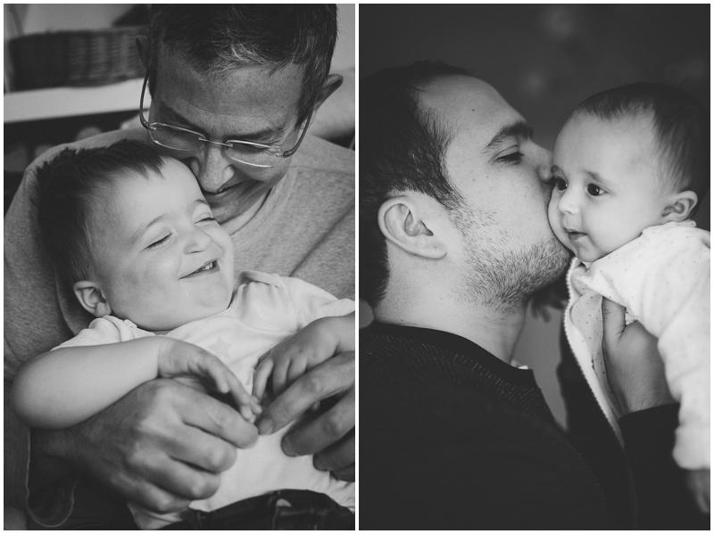 Dads cuddling their babies