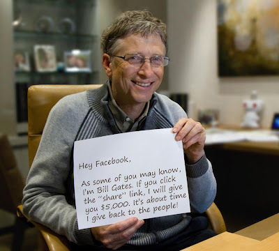 Bill Gates If you click that share link, I will give you $5,000