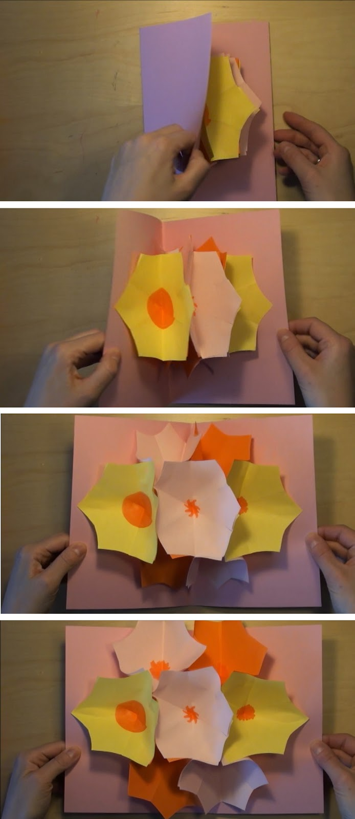 Flower pop-up card
