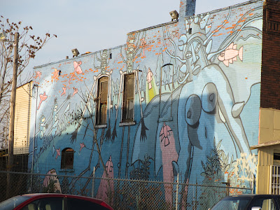 Mural on Fort Street Detroit