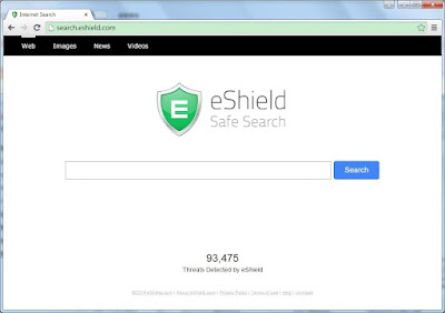 search.eshield.com screenshot