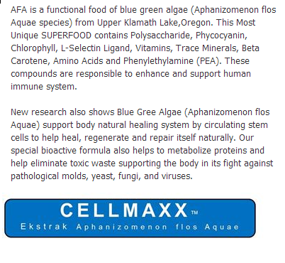 superfood AFA, Cellmaxx, ubat mati pucuk, kencing manis,darah tinggi, sakit jantung, gout, alergic,ubat superpower,murah,hebat,berkesan