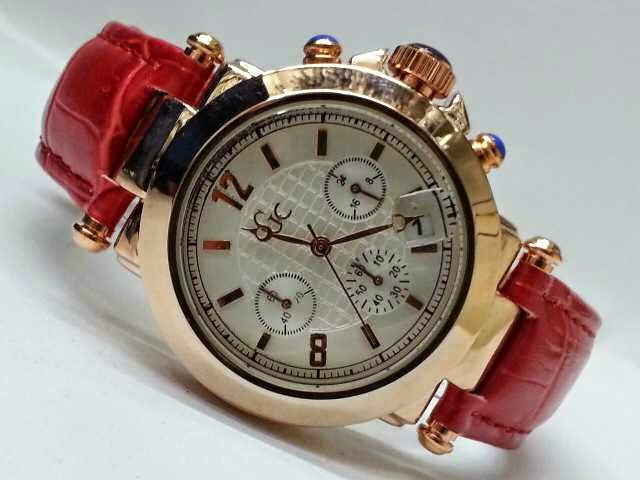 Guess GC Triple Chrono merah