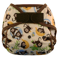 Swaddlebees Capri Diaper Cover Monkeys