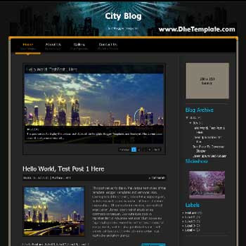 City Blog Blogger Template. free css template to blogger template