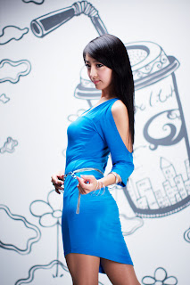 Seo You Jin Korean Sexy Model hot blue mini robe 19