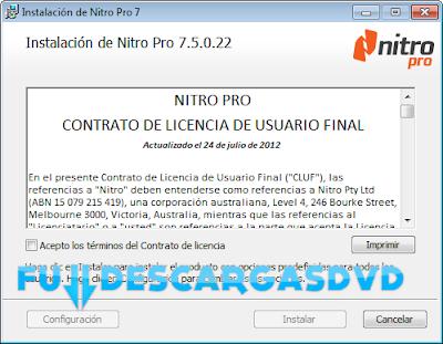 Nitro PDF Professional v7.5.0.22 Full Descargar Español 2012 1 Link
