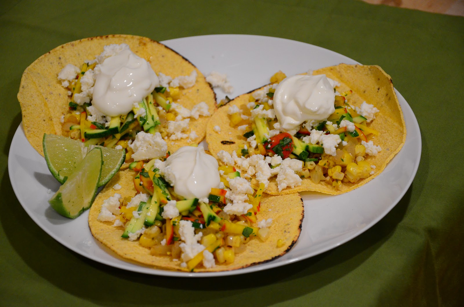 food for scot: Charred Corn Tacos with Zucchini-Radish Slaw