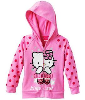 Contoh Model Jaket  Hello Kitty Cantik Untuk Anak Perempuan