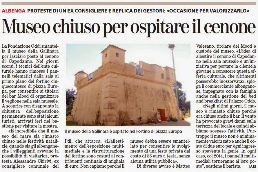 Alassiofutura albenga museo della gallinara chiuso per for Diretta da montecitorio