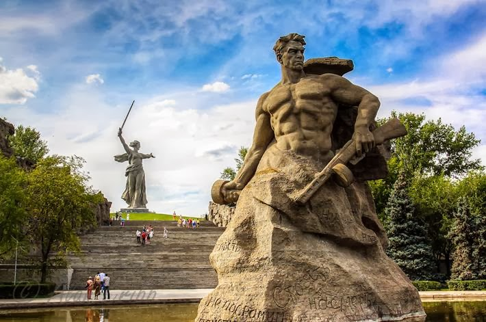 "Memorial ""Heroes of Stalingrad"" was opened on the Mamaev Kurgan in Volgograd in 1967."