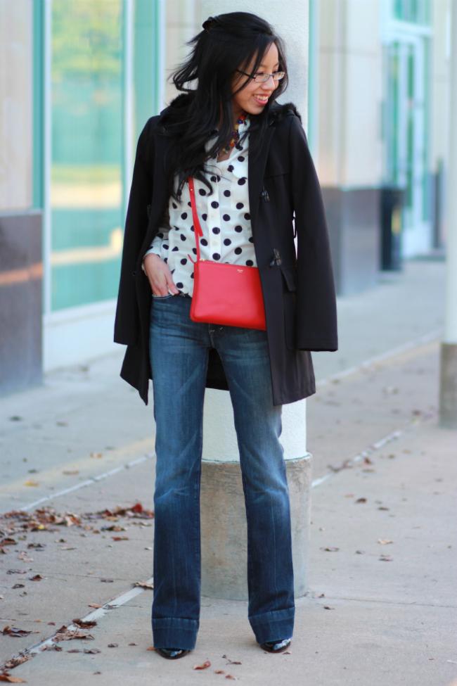 bootcut jeans idea winter coat