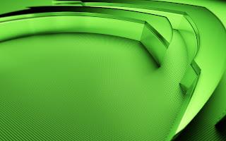 Brand New nVidia 3D Green Logo Kepler GPU Kal-El HD Wallpaper