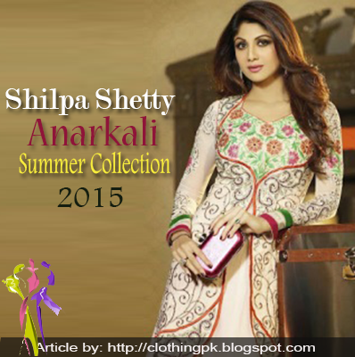 Shilpa Shetty Indian Anarkali Summer Collection 2015
