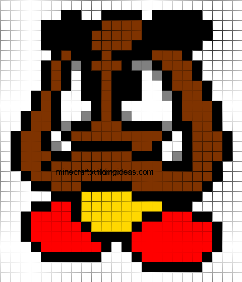 Minecraft Pixel Art Templates  Goomba
