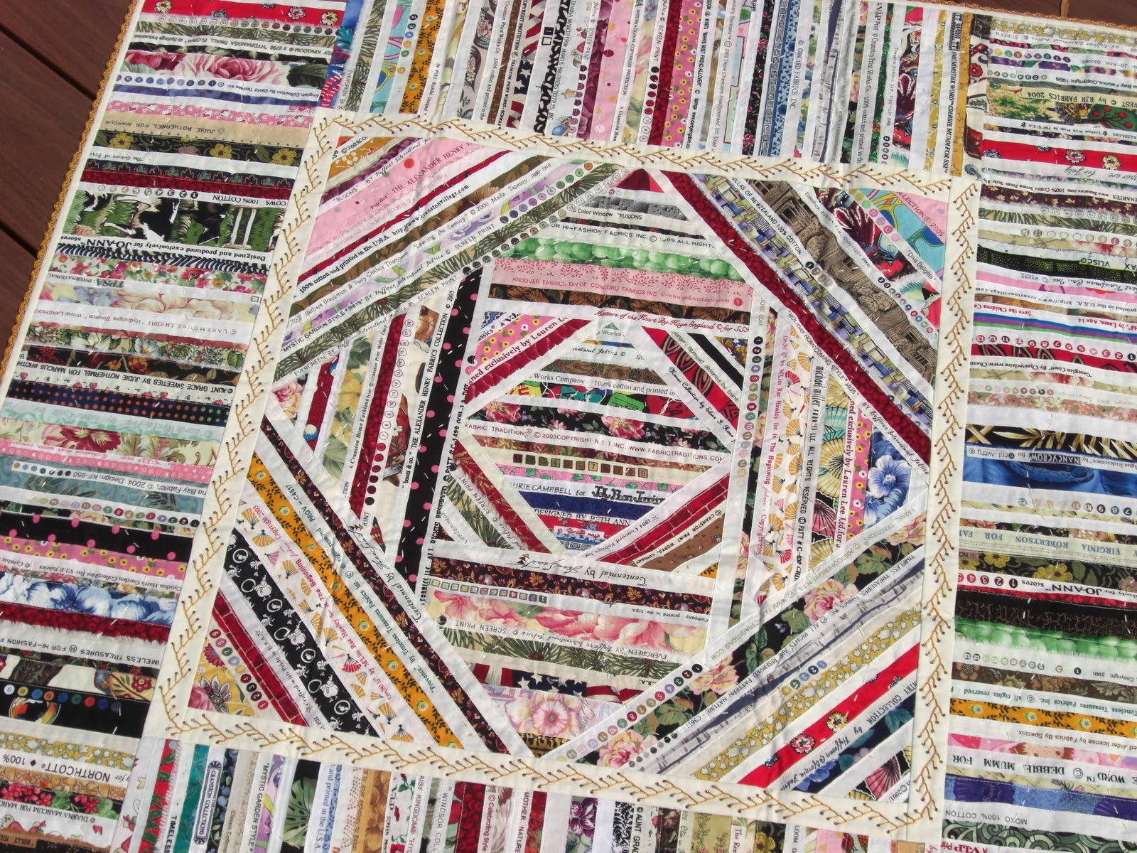 Selvage Blog: Silk Cigar Ribbon Quilt Inspiration : ribbon quilt - Adamdwight.com