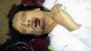 foto khadafi meninggal dunia