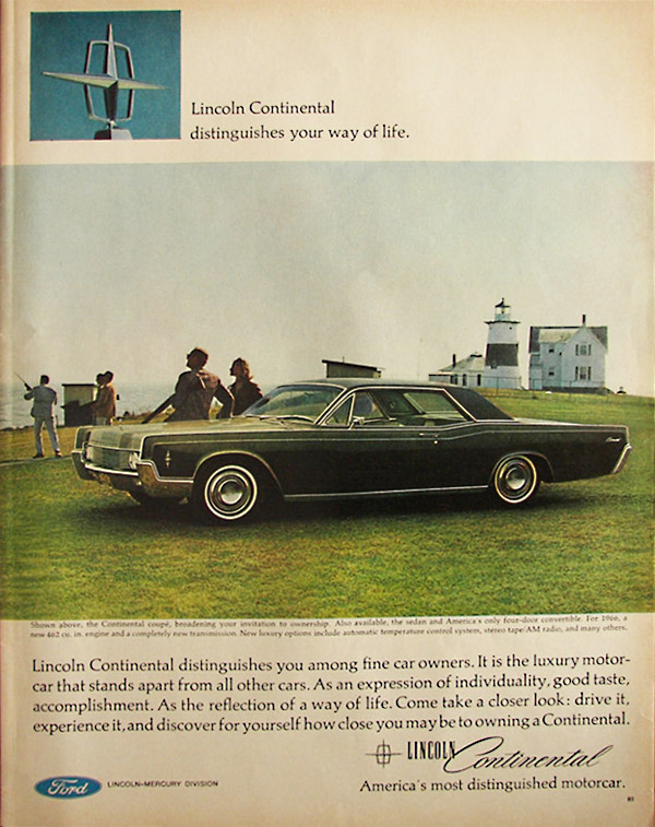 insomniac garage classic ads 1966 lincoln continental coupe. Black Bedroom Furniture Sets. Home Design Ideas