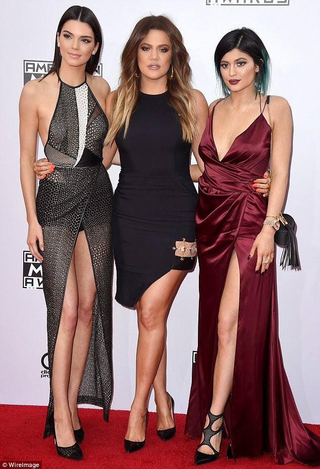 khloe kardashian, kylie and kendall jenner