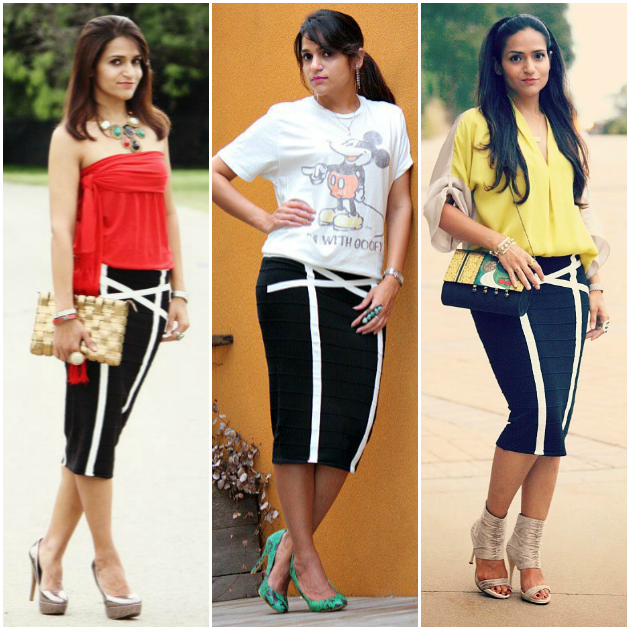 Three Ways To Style A Black Pencil Skirt, Tanvii.com